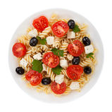 Salad pasta isolated Royalty Free Stock Image
