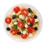 Salad pasta isolated Royalty Free Stock Image