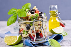 Salad with pasta Stock Photo