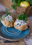 Salad in pastry Stock Photography