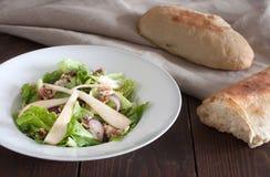 Salad with pear and gorgonzola Stock Photo