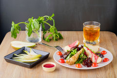 Salad with pear Royalty Free Stock Image