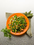 Salad with peas carrots and onions Royalty Free Stock Image