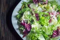 Salad from the Peking cabbage. Close-up. View from above Royalty Free Stock Photos