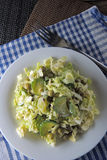 Salad with Peking cabbage and cucumber Royalty Free Stock Photos