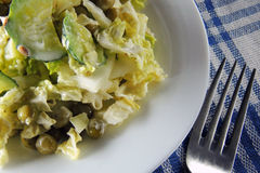 Salad with Peking cabbage and cucumber Stock Image