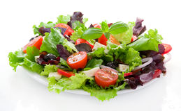 Salad with pepper, lettuce leaves and tomato Royalty Free Stock Photography