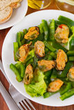 Salad with pepper and mussels Stock Photo