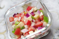 Salad. Pepper tomato tomatoes onion Royalty Free Stock Photography