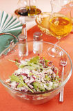 Salad with peppery arugula and radiccio grass Royalty Free Stock Images