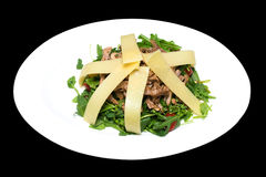 Salad photo from beef and vegetables Royalty Free Stock Images