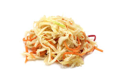 Salad of pickled cabbage Stock Image
