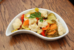 Salad of pickled vegetables Stock Photo