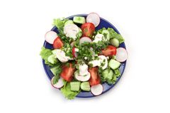 Salad in a plate Stock Images