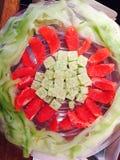 Salad. Plate with salad Stock Photos