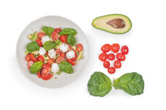 Salad on the plate Stock Images