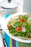 Salad in Plate and Fork #1. Salad in plate and fork Stock Images