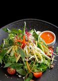 Salad plate with sour mango Royalty Free Stock Image