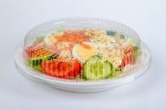 Salad Plate to go Royalty Free Stock Photos