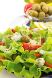 Salad in plate on white Royalty Free Stock Image
