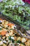 Salad plates Stock Photos