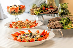 Salad plates Stock Images