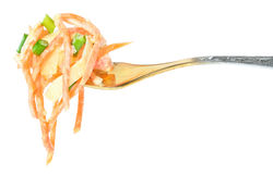Salad on a plug. Stock Images