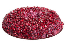Salad with pomegranate seeds isolated on white background. Shall Royalty Free Stock Photos