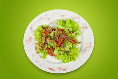Salad of pork, courgette, lime Royalty Free Stock Photography