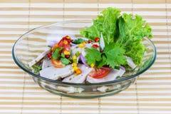 Salad pork sausage spicy food Stock Photos