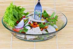 Salad pork sausage spicy food Royalty Free Stock Image
