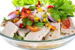 Salad pork sausage spicy food Stock Image