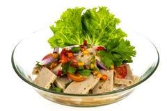 Salad pork sausage spicy food Stock Images