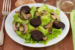 Salad with portobello Stock Image
