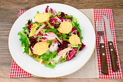 Salad with Potato Chips, Cheese Stock Photo