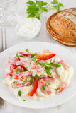 Salad with potato, pepper, mayonnaise Stock Images