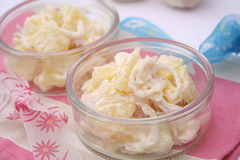 Salad of potatoes Stock Images