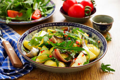 Salad with potatoes, anchovies Royalty Free Stock Photo