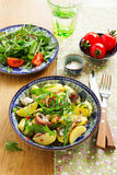 Salad with potatoes, anchovies Stock Photography