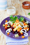 Salad with potatoes and beetroot Royalty Free Stock Photos