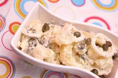 Salad of potatoes with capers Royalty Free Stock Photos