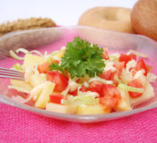 Salad of potatoes and tomatoes Royalty Free Stock Images