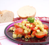 Salad of potatoes and tomatoes Royalty Free Stock Photo