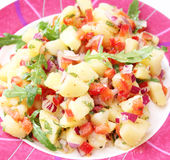 Salad of potatoes and tomatoes Royalty Free Stock Image
