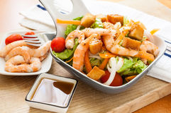 Salad with prawn Stock Photography