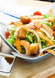 Salad with prawn Royalty Free Stock Photography