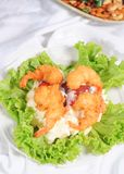 Salad from prawn or shrimp Royalty Free Stock Photos