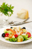 Salad with prawns and croutons Royalty Free Stock Image