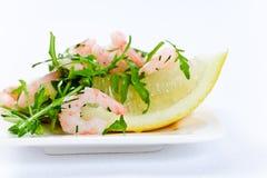Salad with  prawns Royalty Free Stock Photo