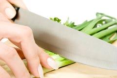Salad preparation Royalty Free Stock Images
